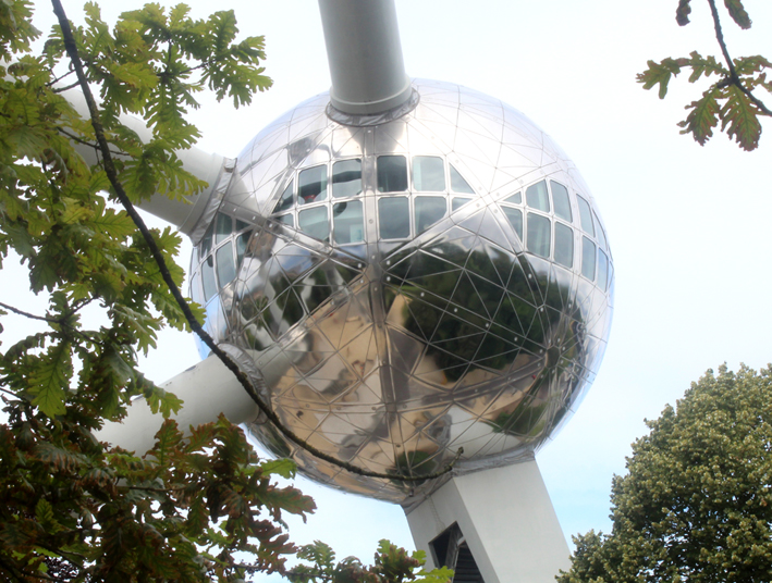 Refurbished sphere of the Brussels Atomium