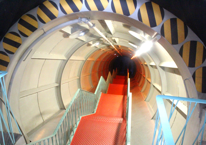 Staircase in tube of the Brussels Atomium