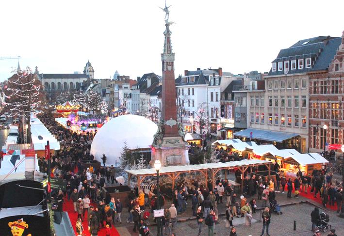 Kerstmarkt Vismet Winterpret Brussel 2019