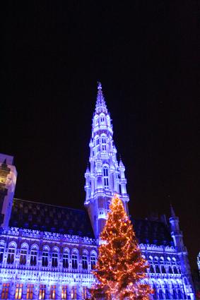 Stadhuis Grote markt Winterpret Brussel 2019