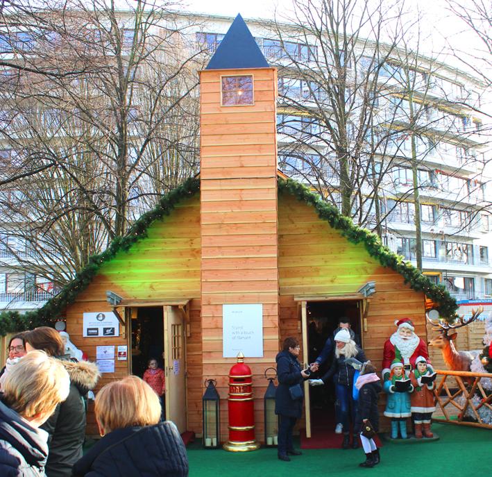 Huisje Kerstman Winterland Hasselt 2019