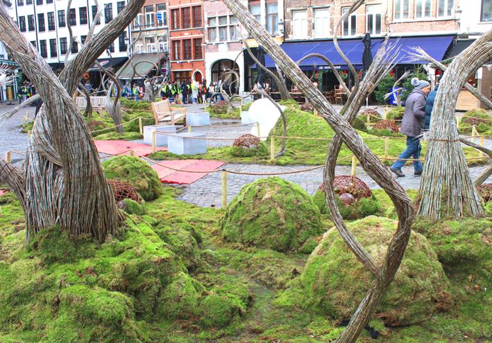 Magisch Winterbos Handschoenmarkt kerstmarkt Antwerpen 2019
