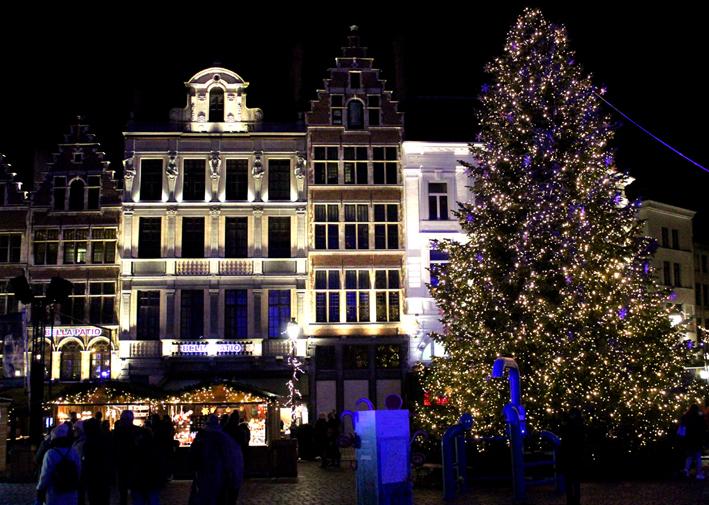 Kerstboom Grote Markt Antwerpen 2019