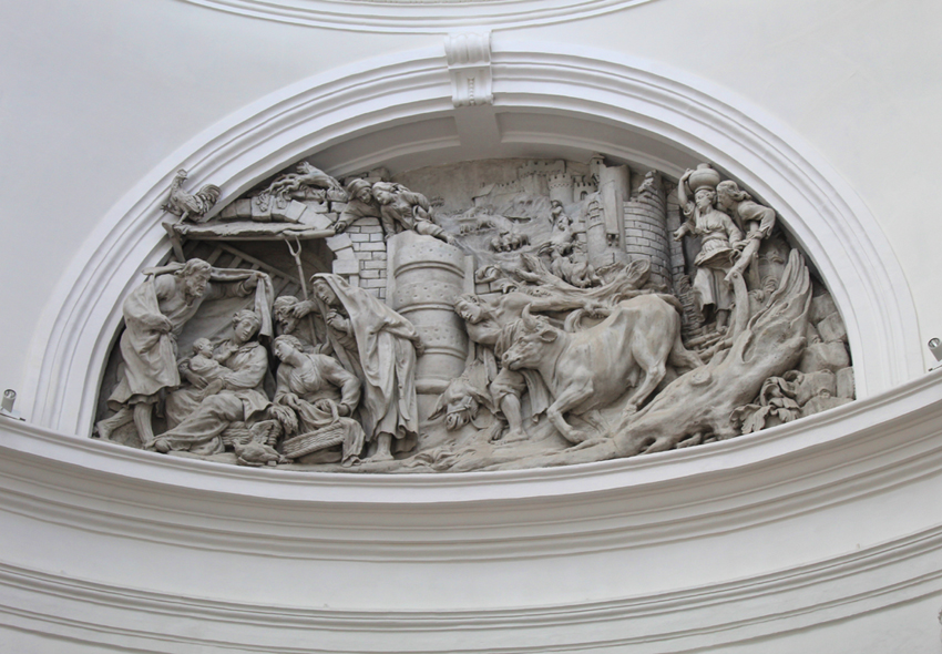 Reliëf 'De aanbidding door de herders' Hanswijkbasiliek Mechelen