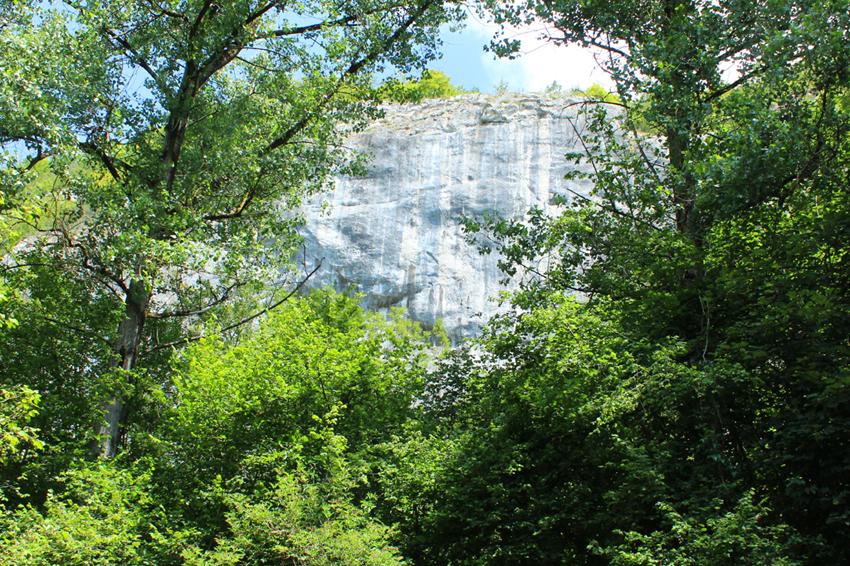 Rotswand vallei Flavion