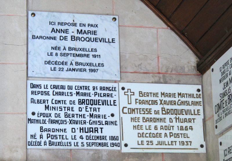 Gedenplaat Charles de Broqueville Postel