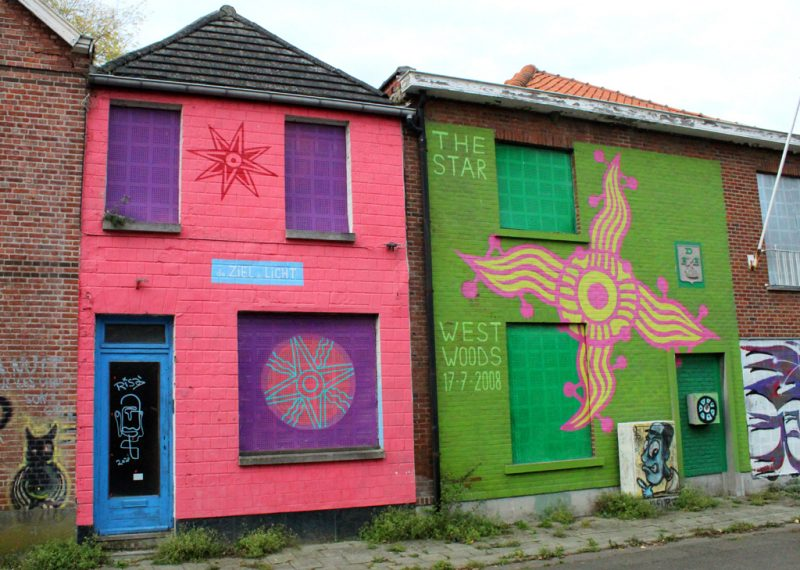 Streetart in Vissersstraat Doel