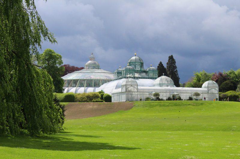 Serres in koninklijke tuin Laken