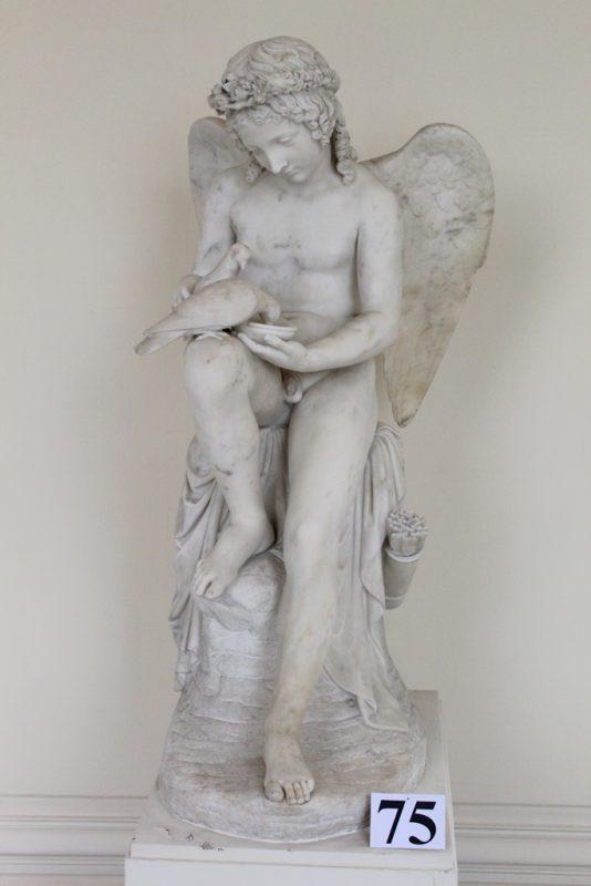 Beeldhouwwerk Amor Halfronde Galerij Paleis Brussel